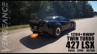 1294+rwhp Twin Turbo 427 LSX C6 Z06 - Vengeance Racing