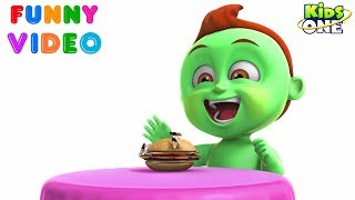 GREENY KIDDO Eat UNHEALTHY FOOD and Went to Hospital | Funny Video for Kids - KidsOne