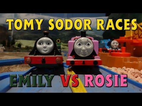 Tomy Sodor Races Emily vs Rosie Race 10