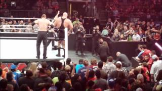 WWE RAW Dallas main event | Sting's RAW debut!! Lesnar F-5ing!!