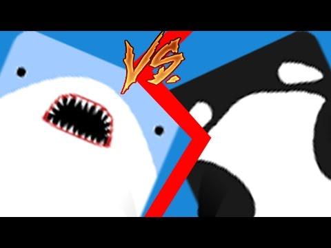 DANGEROUS SHARK VS VICIOUS ORCA! (Epic battle) (Deeeep.io)