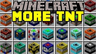 Minecraft MORE TNT MOD! | 100+ TNT, NUKES, DYNAMITES, & MORE! | Modded Mini-Game