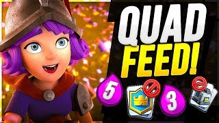 Can you beat THE QUAD FEED custom CLASH ROYALE challenge?!