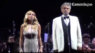 Andrea Bocelli y Marta Sánchez