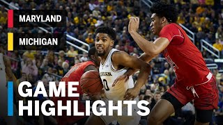 Highlights: Maryland at Michigan | Big Ten Basketball