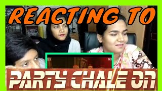 REACTING TO PARTY CHALE ON | RACE 3 | SALMAN KHAN | RISE CREATIONS