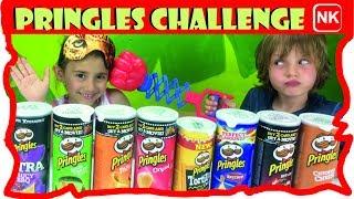 PRINGLES CHALLENGE ita! Chips challenge: Assaggi di patatine ! Snack Americani  Canale Nikita