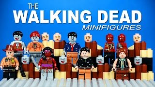 LEGO The Walking Dead KnockOff Minifigures Set 1 with Daryl Dixon Michonne and Rick Grimes