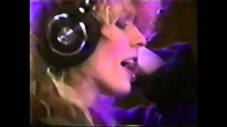 Nancy in the studio These Dreams '85