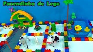 Tô brincando com a tia Cris - Fazendinha com lago - Blocos de montar - Lego duplo #TiaCris