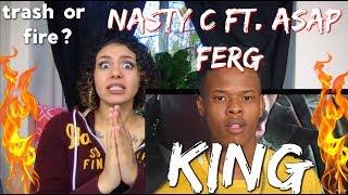 NASTY C FT. ASAP FERG - KING ( OFFICIAL MUSIC VIDEO REACTION ) NEEK T.V