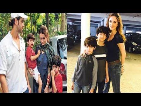 जब रितिक की फिल्म देखने पहुंची सुजैन…! | Sussanne Khan Spotted Watching Movie with Sons