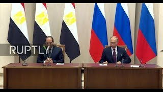 Live: Putin and el-Sisi meet in Sochi: joint statements