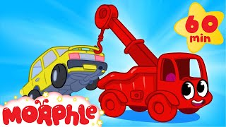 My Red Tow truck (+ 1 hour My Magic Pet Morphle Mega Vehicle compilation for kids!)