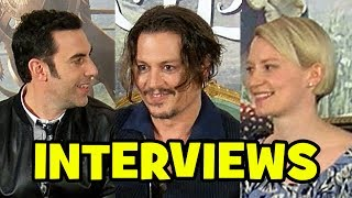 Alice Through The Looking Glass Cast Interviews - Johnny Depp, Mia Wasikowska, Sacha Baron Cohen