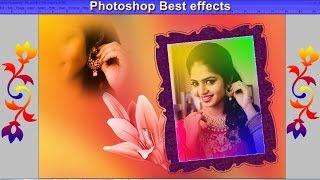Photoshop effect, Photo Frame, Custom Shape, Wedding Photo Effects, Wedding Template Design
