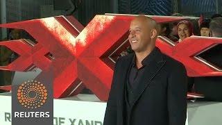 Vin Diesel premiere's action 'threequel' in London