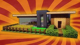 Minecraft Modernes Haus Freitag Hochhaus Braun Weiss Bauen