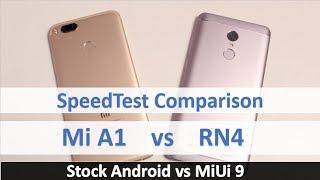 Mi A1 vs Redmi Note 4 SpeedTest Comparison   Which is Faster?