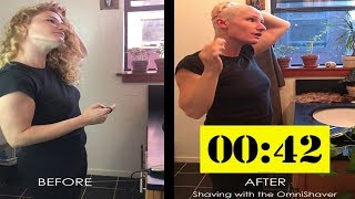 Worlds Fastest Female Head Shave