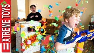 Sneak Attack Squad Birthday Confetti Blaster Nerf Battle!