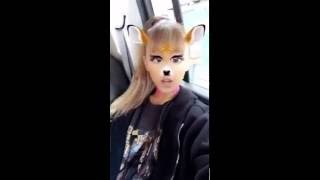 Ariana Grande Funny Snapchat Video on Glasses