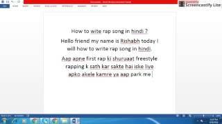 How to write rap song in Hindi. Hindi rap tutorial 2016.