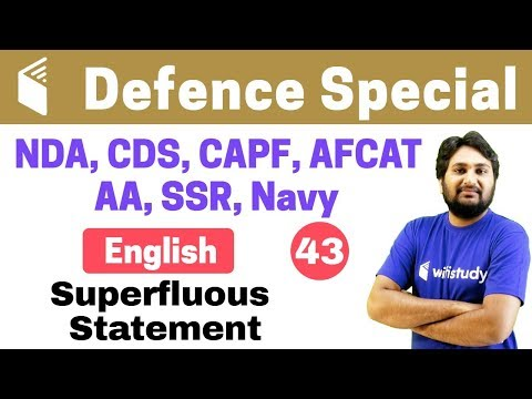 Xxx Mp4 7 00 PM NDA CDS CAPF AFCAT 2018 English By Harsh Sir Superfluous Statement 3gp Sex