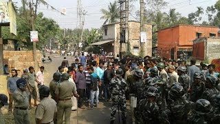 Bhangar turns violent over land acquisition for power grid substation