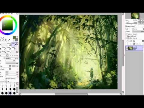 SAI Speedpaint | The Forest Stray
