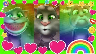 Learn Colors with My Talking Tom Colours for Kids Education Cartoon Reaction Compilation EP3