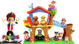 Best Learning Colors Video for Children - Paw Patrol Skye & Chase Weebles Treehouse Playground