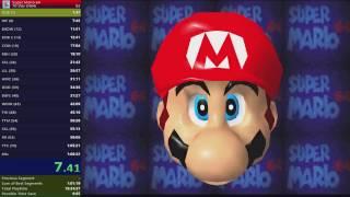 Super Mario 64 70 star speedrun (1:06:31) EMU