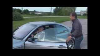 Grandma Drifts Guy's BMW M3 - funny