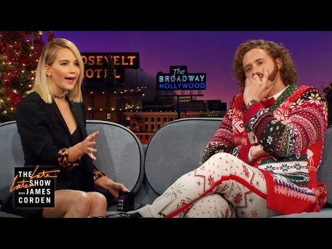 Jennifer Lawrence & James Corden Pitch Apps to T.J. Miller