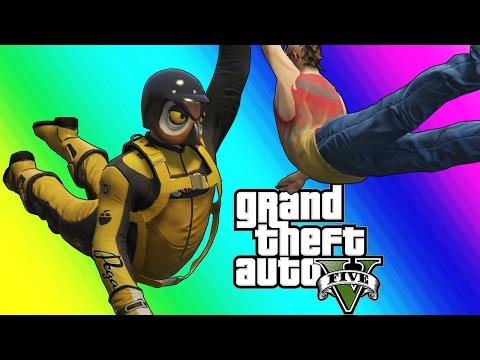 GTA 5 Online Funny Moments Resurrection and The Michael Jordan Dive