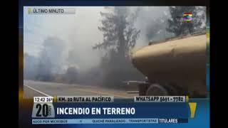 Incendio en el Km. 22 de la ruta al Pacífico