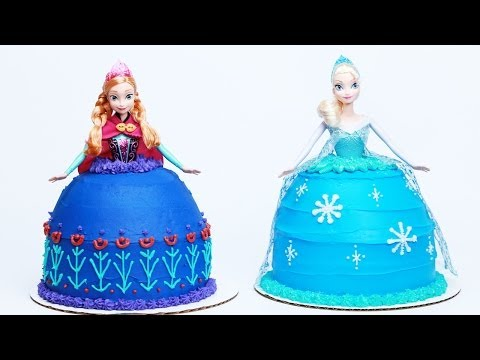 HOW TO MAKE A FROZEN PRINCESS CAKE NERDY NUMMIES