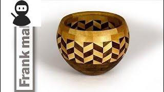 segmented wood turned Wedding bowl HD