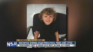 Encinitas Shining Star preschool fined, cited over child left at park