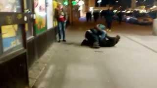 Bitka opilců Hlavní nadraží Brno