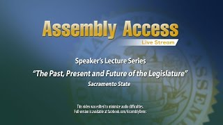 Speaker's Lecture Series Continues at Sacramento State