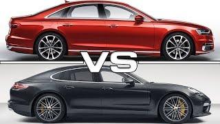 2018 Audi A8 vs 2017 Porsche Panamera