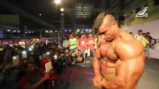 GUEST POSE BY MR WORLD. MR INDIA, MR PUNJAB SHERA AT JERAI CLASSIC 2015, BODYPOWER EXPO
