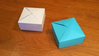 How To Make A Paper GIFT BOX - Origami Tutorial