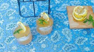 Barbecued lemon lemonade