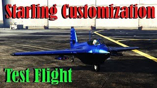 Gta 5 Online | Lf -22 Starling Bomber - Smuggler Run DLC - Customization And Test Flight