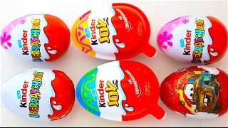 Super Surprise Eggs Kinder Surprise Kinder Joy Mickey Mouse Hello Kitty Play Doh Come And Play