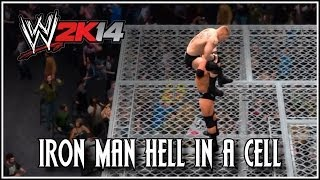 WWE 2K14 - EPIC Iron Man Hell In A Cell Match! Featuring Batista vs Brock Lesnar (Retro)