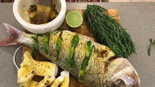 ماهی باید اینجوری درست بشه باقیش افسانست ماهی اسنپر بدون روغن و گریلی قارچ گریلی جوادجوادی